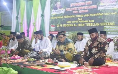 Istighosah Kubro Bersama PCNU dan LDNU Sintang Dalam Rangka HSN 2020 di PPM Al-Iman Tebelian