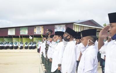 Upacara HSN 2020 bersama PCNU, LDNU,dan Banom NU Sintang Di PPM Al-Iman Tebelian